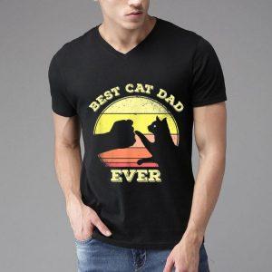 Best Cat Dad Ever Vintage Cat Lover shirt
