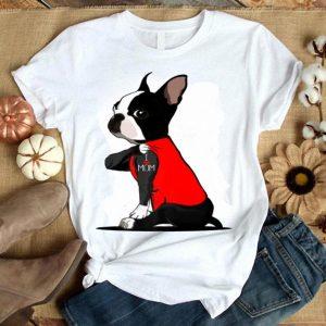 Boston Terrier Tattoos I Love Mom Dog Lovers shirt