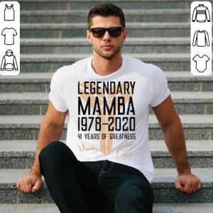 Legendary Mamba 41 Years Of Greatness Kobe Bryant Signature shirt