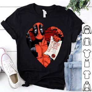Marvel Deadpool To Do List Be Your Valentine shirt