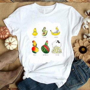 Nice Parrot Lemon Avocado Banana Mango Watermelon Popcorn shirt