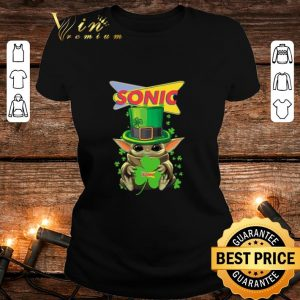 Official Baby Yoda Sonic Shamrock St. Patrick's Day Star Wars shirt
