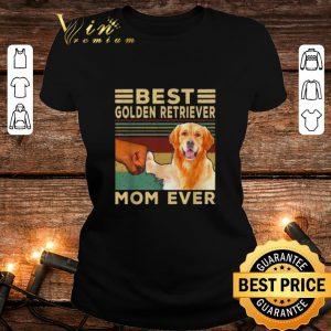 Official Best Golden Retriever Mom ever vintage shirt