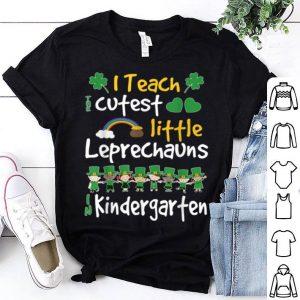 Official Lucky Leprechauns St Patricks Day Kindergarten Teacher shirt