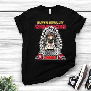 Pug Iron Throne Super Bowl LIV Champions Kansas City Chiefs shirt