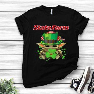 Star Wars Baby Yoda State Farm Shamrock St.Patrick's Day shirt