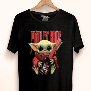 Baby Yoda Hugs Mötley Crüe Guitar Star Wars shirt