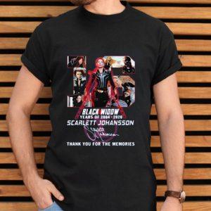 Black Widow 16th Years Of 2004-2020 Scarlett Johansson Signature shirt