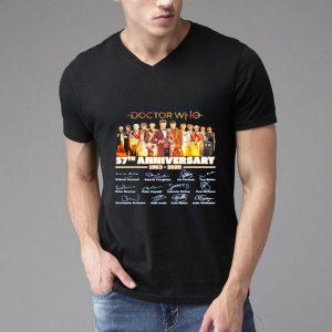 Doctor Who Tv Movies 57th Anniversary 1963-2020 Signature shirt
