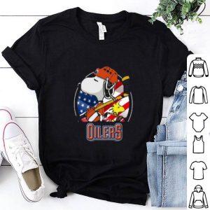 Edmonton Oilers Snoopy And Woodstock NHL shirt