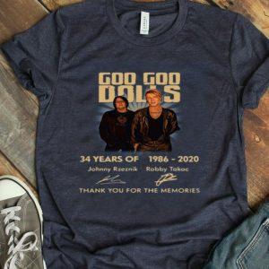 Goo Goo Dolls 34 Years Of 1986 2020 Signature Anniversary Thank You For The Memoriesshirt