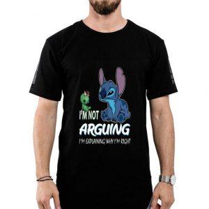 I'm Not Arguing I'm Explaining Why I'm Right Stitch Disney shirt