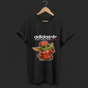 Baby Yoda Adidas All Day I Dream About Cleveland Browns Youth Long Sleeve shirt