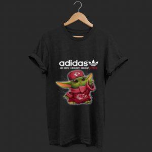 Baby Yoda Adidas All Day I Dream About Kansas City Chiefs Youth Long Sleeve shirt