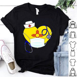 Nice Love New Mexico Nurse Mask Coronavirus shirt