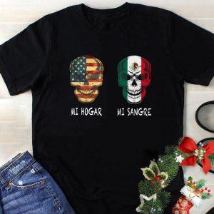 American flag skull mi hogar shirt