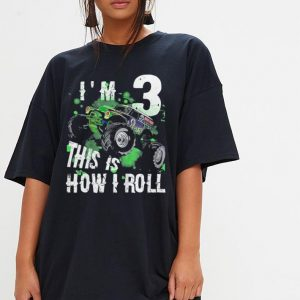 Kids Monster Truck this is how i roll shirt 2