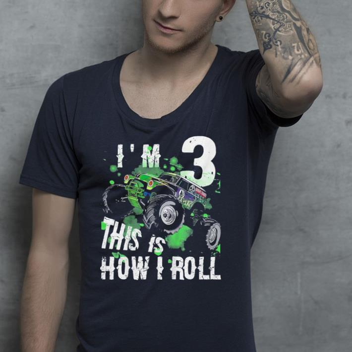 Kids Monster Truck this is how i roll shirt 4 - Kids Monster Truck this is how i roll shirt