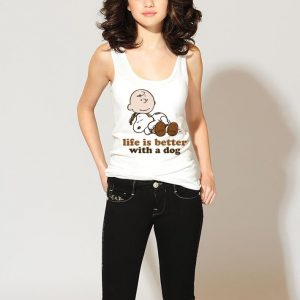 Peanuts snoopy Life is better with a dog shirt 2