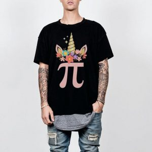 Unicorn Face Pi Day shirt