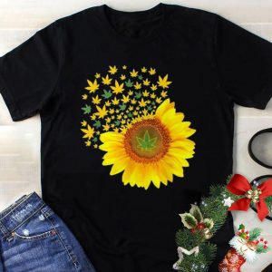 Weed Leaves Sunflower Marijuana shirt