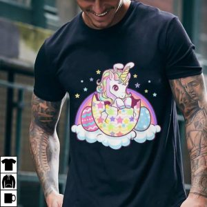 Easter unicorn bunny easter eggs shirt 1