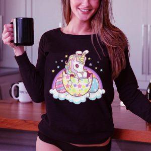 Easter unicorn bunny easter eggs shirt 2