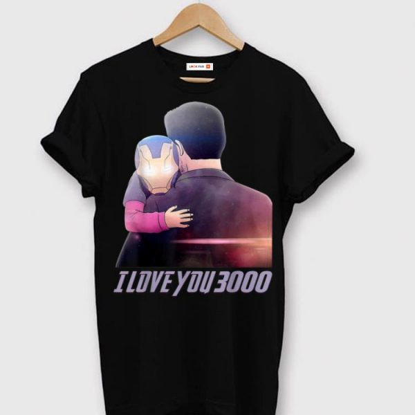 I Love You 3000 Dad and Daughter Iron man End game shirt