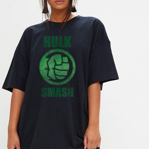 Marvel Hulk Smash Fist Circle Logo shirt