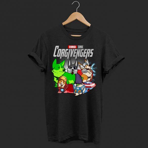 Marvel avenger Corgi shirt