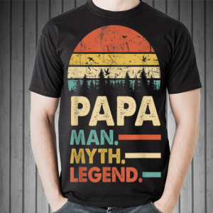 Papa Man Myth Legend Sunset shirt