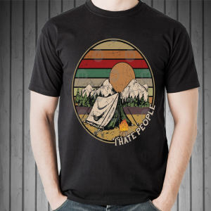 Love Camping I Hate People Vintage Retro shirt