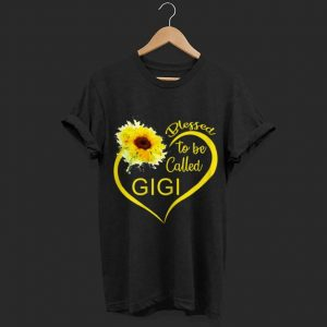Blessed To Be Called Gigi Sunflower shirt