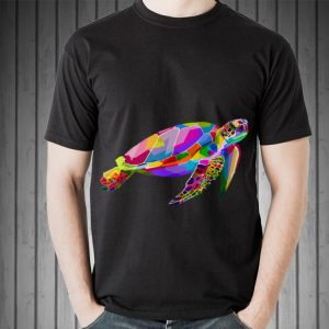 Colorful Swimming Sea Turtle shirt