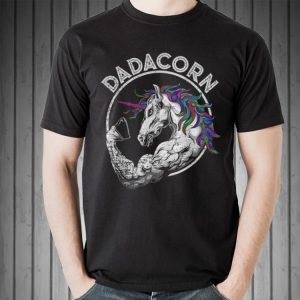 Dadacorn Bodybuilding Unicorn Dad Baby Fathers Day shirt