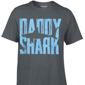 Daddy Shark Fathers Day Son Daughter shirt