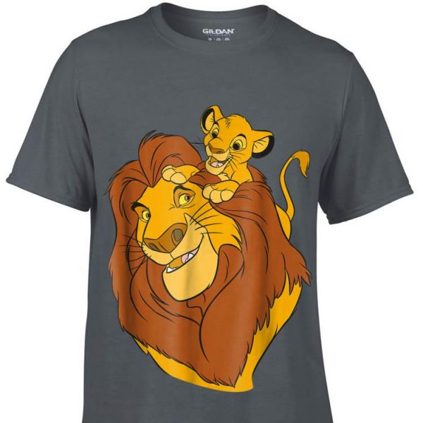 Disney The Lion King Simba and Mufasa Father and Son Dad day shirt