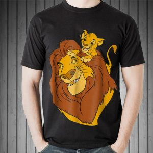 Disney The Lion King Simba and Mufasa Father and Son Dad day shirt 1