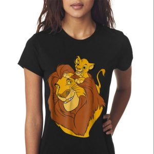 Disney The Lion King Simba and Mufasa Father and Son Dad day shirt 2