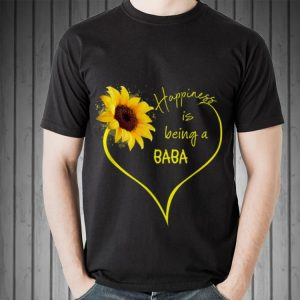 Happiness is being BaBa Flower Heart Father day shirt