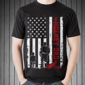 Hockey Dad Father Day American Flag shirt