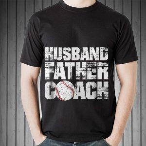 Husband Father Coach Baseball Dad Father day shirt