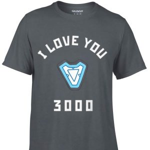 Marvel Avengers Endgame Iron Man I Love You 3000 Arc Reactor 2019 shirt