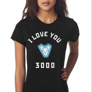Marvel Avengers Endgame Iron Man I Love You 3000 Arc Reactor 2019 shirt 2