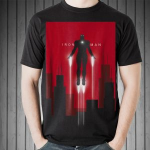 Marvel Iron Man in Flight Deco Art Style shirt