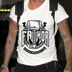Mjolnir Fathor World Mightiest Dad shirt