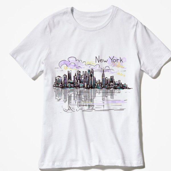 New York City skyline NYC sunset Graphic souvenir shirt