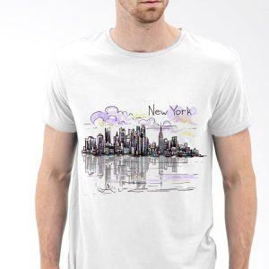 New York City skyline NYC sunset Graphic souvenir shirt 2