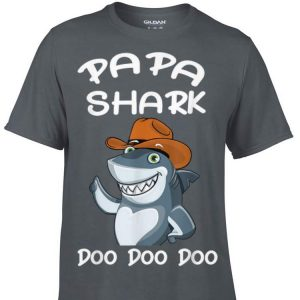 Papa Cowboy Shark Doo Doo Doo Father's Day shirt