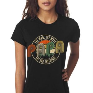 Papa The Man The Myth The Bad Influence Vintage shirt 2